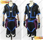 Anti Sora from Kingdom Hearts 2 Cosplay Costume black & blue