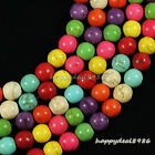 """Gorgeous Multicolor Turquoise Round Ball Loose Beads 15.5"""" 4mm,6mm,8mm,10mm"""
