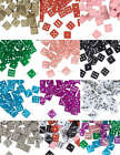 Beads ACRYLIC DICE SQUARES Diagonally Drilled Various Sizes & Colors
