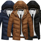 Fashion Parka Mens Winter Padded Trench Coat Slim Jacket Overcoat Warm Outwear