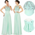 Mother of The Bride Dress Long Formal Evening Gown Bridesmaid Party Beaded Dress