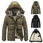 New Winter Men's Fashion Thicken Hooded Fleece Coat Padded Jacket Parka Outwear