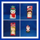 NEW WILTON CHRISTMAS BOY OR GIRL ANGEL, SNOWMAN OR SANTA CANDLES, YOU PICK