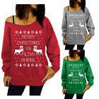 Merry Christmas Ya Filthy Animal Slouchy Womens's Sweatshirt Ugly Sweater Gifts