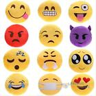 Cute Emoticon Yellow Round Sofa Cushion Pillow Stuffed Plush Toy Doll Gift #F8s