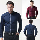 Muscle New Mens Luxury Stylish Dress Shirts Casual Slim Fit T-Shirts Button Tops