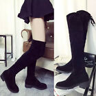 Brand New Women's Over Knee High Boot Lace Up Flats Long Thigh Boots Shoes AAAAA
