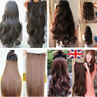 Great value Clip In Hair Extensions Long One Piece Half Full Head Real Quality