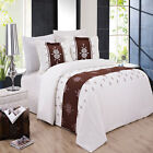 Eleanor Embroidered 3-Piece Egyptian Cotton Duvet Cover Set