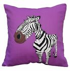 LL415a Black White Purple Brown Zebra High Quality Cotton Canvas Cushion Cover