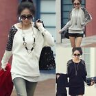 Womens Lady Girls Ladies Leopard Print Long Sleeve Loose T shirt Tops Blouse NEW