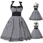 PLUS SIZE XXXL Vintage Style Rockabilly Swing 50s 60s Pinup Housewife Dress Grid