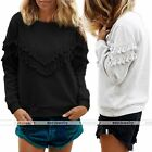 Womens Fashion Casual Hooded Sweatshirt Pullover Hoodie Outerwear Tops
