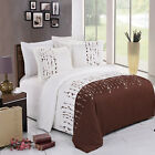 Ellis Embroidered 3-Piece Egyptian Cotton Duvet Cover Set