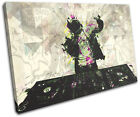 Music Abstract Grafitti DJ Club SINGLE CANVAS WALL ART Picture Print VA
