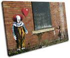 Graffiti Pop Clown IT Banksy Street SINGLE CANVAS WALL ART Picture Print VA