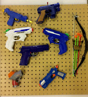 Nerf / Toy Gun Hanging Kit,pegboard made to size,fixings and hanging pegs inc