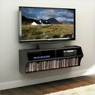 """48"""" Floating Wall Mounted Console LCD LED Plasma TV Stand with Storage Shelves"""