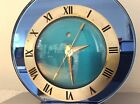 Art Deco Telechron 1930 Blue Mirror Electric Clock