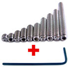 8-32 Set Screws 10 PICK YOUR SIZE Stainless Steel Socket Grub Cup Point +Hex Key