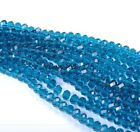 Wholesale 100Pcs Top Quality Crystal Glass Faceted Rondelle Spacer Beads 4MM 6MM