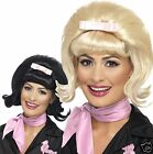 Ladies 1950s Flicked Beehive Wig 50s Housewife Grease Fancy Dress Costume Adult