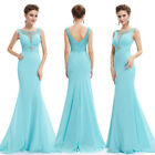Ever Pretty Women's Elegant Light Blue Long Evening Formal Party Dress 08732