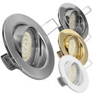 1-10er Set 230V TOP AKTION KR-L19 3,3W LED = 35W Halogen Hochvolt Deckenleuchte