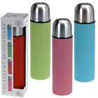 STAINLESS STEEL 500ML THERMOS FLASK VACUUM BOTTLE PUSH BUTTON LID INSULATED