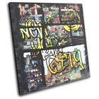 New York Graffiti Grunge City SINGLE CANVAS WALL ART Picture Print