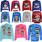 Kids Unisex Christmas Xmas Jumper Children Girls Boys Knitted Aztec Top Sweater