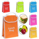 KIDS OFFICE THERMAL INSULATED COOLER LUNCH BAG HOT COLD FOOD PORTABLE SCHOOL