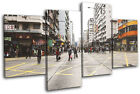 Hong Kong Street City MULTI CANVAS WALL ART Picture Print