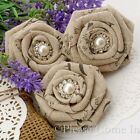 Handmade Linen Roses Shabby Chic Fabric Linen Flower for Decorations