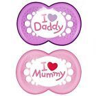 MAM Soothers Style - I Love Mummy / Daddy 0m+, 6m+ 2pk