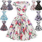 Short/Mini Floral Prom Dress Cocktail Ball Evening Party Dress Black Red Blue XL