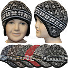 Kids Beanie Unisex Boys, Girls Knit Beanie Hat Layered Winter Cap