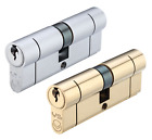 Euro Cylinder Double 5 Pin Lock 70mm 35/35 Profile Door Replacement Barrell