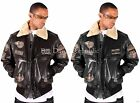 AVIATRIX US AIR FORCE PILOT FLYING GENUINE LEATHER MENS BOYS JACKET MILITARY