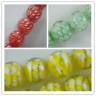 15 Handmade Glass Round Bead Spacers 14mm 3color-1 P22-P24