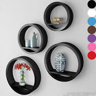 Wall Mount Round Shelves Floating Display Unit Hanging Storage Home in 4 Sizes