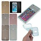 Protector Film+ Soft Clear Gel Card Slot Crystal Case Cover for iPhone 6s 6 4.7""