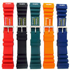 Tough PU SCUBA Divers Watch Strap ND Limits 18mm 20mm 22mm 24mm 4 Colours C038