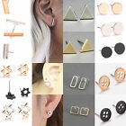 Newly 2 Pc Punk Women Simple Tiny Bar Fashionable Earrings Stud Cute Bar Earring