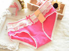 1PCS Lace Women's Cotton Soft Lace Bow-knot Underwear Briefs Knickers Candy 2016