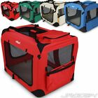 Foldable Pet Transport Carrier Travel Box Basekt Portable Crate Transfer Supply