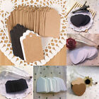 100x Kraft Paper Tags Birthday Wedding Party Favor Label Price Brown Gift Cards