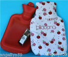 BILLABONG HOT WATER BOTTLE & CASE COVER TRAVEL BOY GIRLS LADIES Black or Red NEW