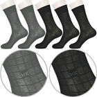 "5 Pairs Lot Mens Mesh Thin Dress Socks MS2 ""Skin contact surface is 100% cotton"""
