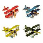 World War I Germany Airplane Fighter Biplane Aircraft Tin Model Decor Gift Retro